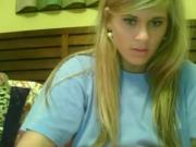 hot blond girl showing all on skype