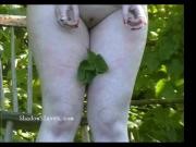 Outdoor nettles bdsm and bbw slave girls garden bondage