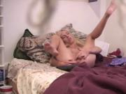 Hacked laptop voyeur vid of blonde masturbating + ORGASM