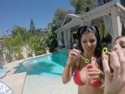 Abigail Mac and Romi Rain get each other all wet