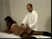White Doctor Gives an Anal Crempie to His Black Pregnant