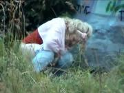 Spy two blondes outdoor