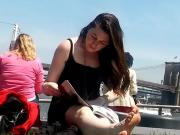 Candid NYC Sexy Feet Two women Soles