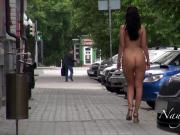 Nude in the morning city