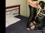 Lady in black, part one: Bondage sex