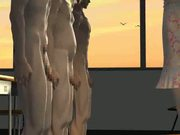 3D tit fucking animation