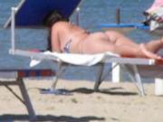 Latin big round ass beach