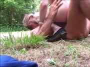 jizz in mouth in forest