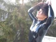Hot girl in latex
