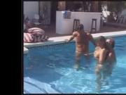 Poolside Threesome with Older Woman MMF