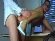 Secretary sucks and fucks her boss.