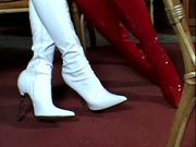 Hot Blondes Playing In Thigh-High Boots