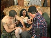 Hottest big boobed gipsy girl in gangbang - 1 of 4