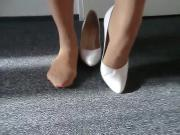 Alysha's Nylon Pantyhose Feet & High Heels