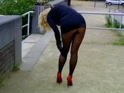 outdoor short dress buttock