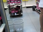 Stockings Upskirt in Shoe market 1