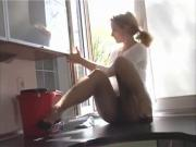 housework in panty hose by bradpiet