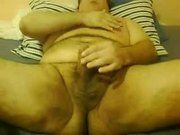 Slave boy ground begging mean master to cum (spanking, CBT)