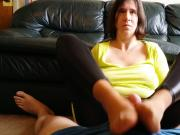 Sexy Chell Feet in Face Handjob Footjob