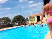 nice tees butts at pool