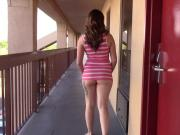 GODDESS FLASHING BUTT TIGHT DRESS BUSY MOTEL