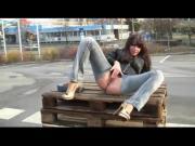 Perverse German Girl Fucking Outdoor