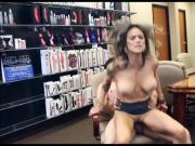 Hot secretary invited her boss for a chat and fuck