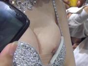 Nipple slip at car show