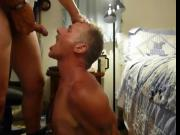 Shooting my hot load right in my neighbor's mouth