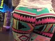 Big booty bbw latina in colorful leggings