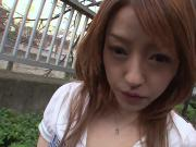 Cute Japanese babe gets her pussy stuffed