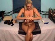 Samantha 1P Webcam Masturbating Pussy Dildo In Ass