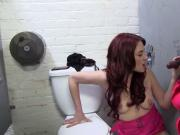 Cheating wife suckinhg black cock in Gloryhole