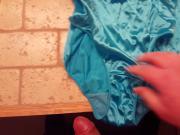 I cum into wife's nylon panties
