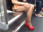 shoeplay in train