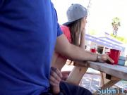 Horny teen Kimmy Granger gets slammed by her bf on a tree