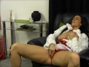 Bad girl Paige Turnah finger fucks pussy waiting for Santa