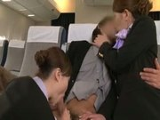 Japanese flight attendant's Physical strength service 2