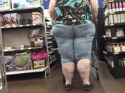 SSBBW Jeans Candid