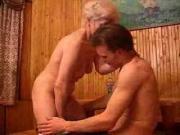 Blonde granny sucks drinking friend m80