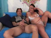 Hot plumper MILF sucks and fucks