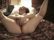 Fat BBW ex GF got horny and masturbate in a hotel room