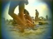 Public video: beach blow job