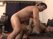Kinky old dude dominates and fucks a bound gay boy