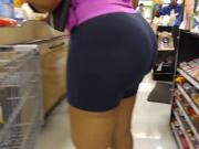 PHAT ASS IN SPANDEX SHORTS