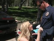 Blonde Gets Fucked by Cop