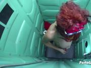 Porta Gloryhole Mature redhead tries to suck dick