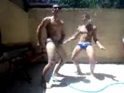 Latinos with hose