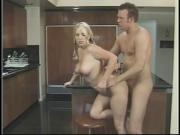 Blond teen gets slammed on the island in the kitchen