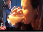 Debra drinks cum